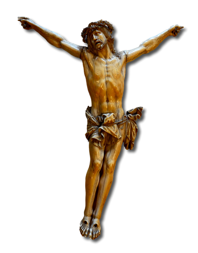 Cristo crocifisso in avorio